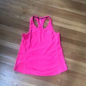 Nike running dri-fit neon pink tank top